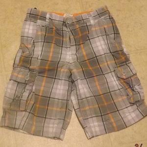 plaid cargo shorts sz 10